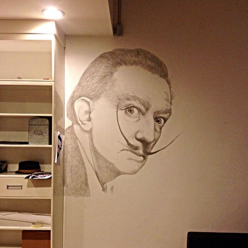 Dalí Portrait Painting Drawing 80%