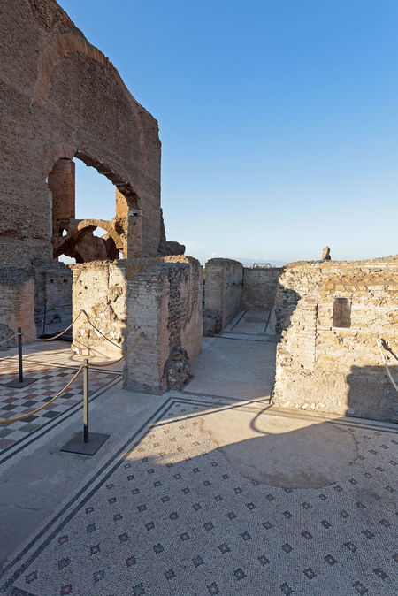 Famous Villa dei Quintili, archaeological site of Rome. Roman villa of the first half of the 2nd century. Ancient Ancient Civilization Architecture Building Exterior Built Structure Clear Sky Day History Mosaic Art No People Old Ruin Outdoors Sunlight The Past Travel Destinations Villa Dei Quintili