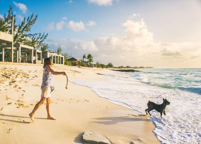🐶The swing🐕~ Sand Beach Water Sky Dog Turksandcaicos Grandturk Animal Themes Domestic Animals Pets Puppy