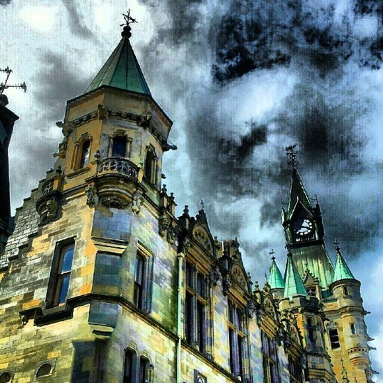 'The Registry' Dunfermline Fife  Scotland Igscotland haggismunchers Registry Architecture Buildings Turrets Stone Clock Cloudporn skyporn skypainters insta_pic_skyart instamob instahub picoftheday bestoftheday Primeshots