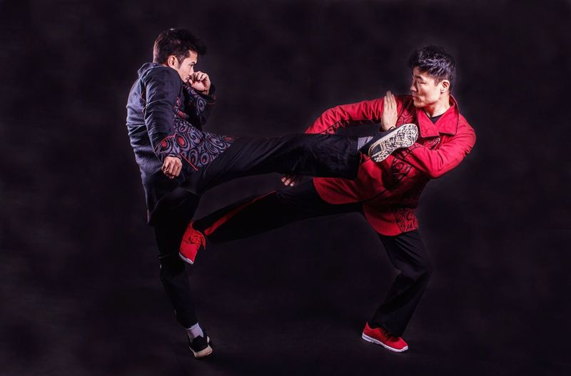 Action is the antidote to despair. Refined Beauty In Action Martial Arts Two People Full Length Adult Sport Clothing Lifestyles Motion Strength