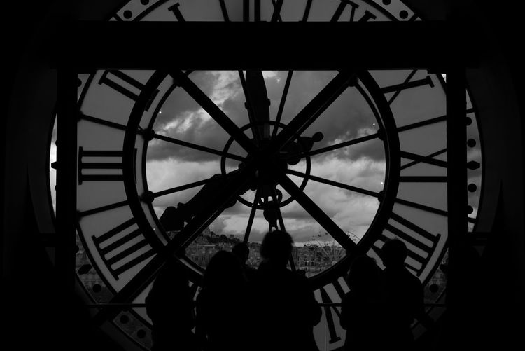 Musée D'Orsay Adult Architecture Built Structure Clock Clock Tower Clocks Day Indoors  Leisure Activity Lifestyles Men People Real People Roman Numeral Sadness Silhouette Standing Time Time Passes By Time To Reflect Togetherness Women