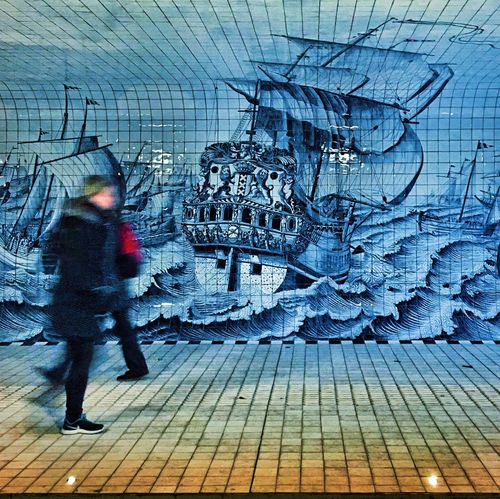 The Amsterdam. P.074 Onephotoaday 365project Streetphotography Amsterdam Impressive Tunnel Wall Art Walking Around City Life Urbanexploration Historical Art Beautiful Place History Through The Lens