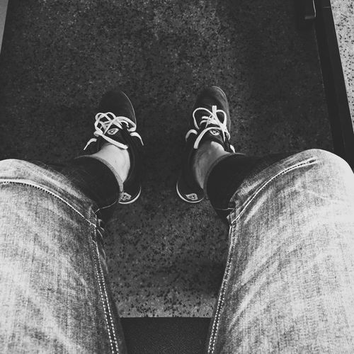 Shoes, Jeans, Office, casual, clothes, Black and white