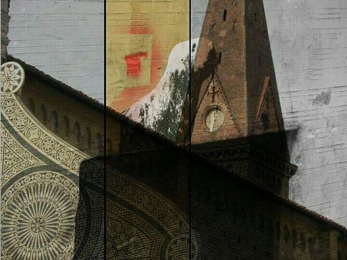 sovrapposizioni Florence, Italy Architecture Graffiti & Streetart Details Montaggio Artistic Expression Artistic Freedom Point Of View Roof And Walrus EyeEmNewHere Collage Art Is Everywhere
