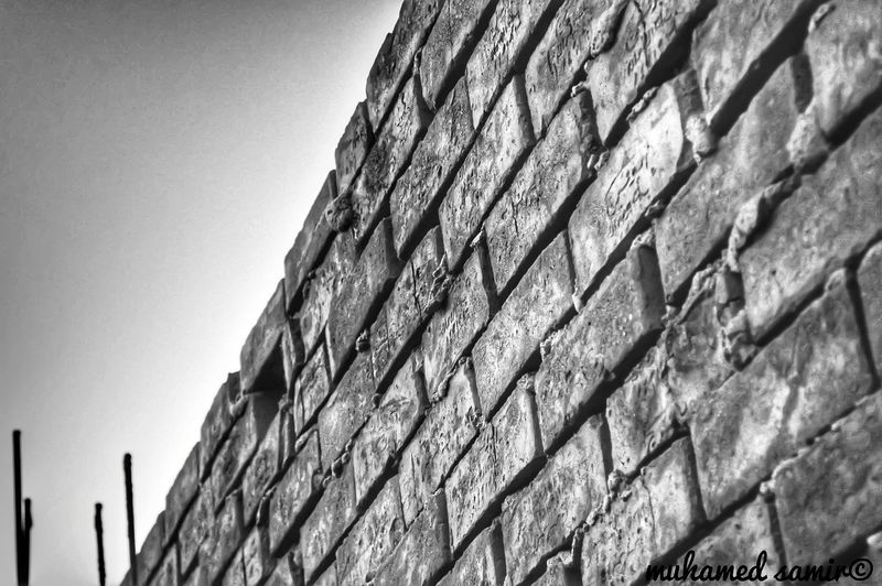Day Blocks Textured  Low Angle View No People Outdoors Sky Nature Beauty In Nature Close-up Good Times Taking Photos Nikonphotography Wall Wall - Building Feature Enjoying Life Blackandwhite B&w After Effects Egypt