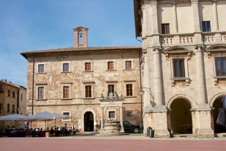 Ancient Architecture Building Exterior Built Structure City Day Discover The World History Italy❤️ Marketplace Montepuliciano No People Outdoors Sky Travel Destinations Tuscany Tuscany Italy Window