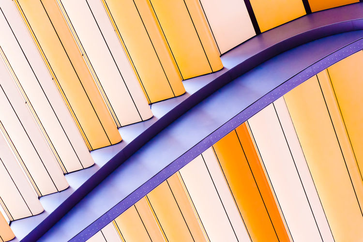 Colors of Sunshade. Impression of City Buildings. Architecture City Colors Curves Impression Lines SUPPORT Abstract Arch Building Close-up Design Details Pattern Sunshade
