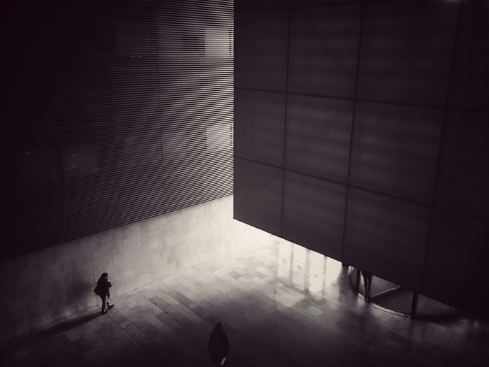 Walking to the Light . Light And Shadow Interior People Shadow Built Structure Architecture Architecture Architecturelovers Blackandwhite Architecture_collection Arquitectura Blancoynegro Madrid SPAIN Minimalism Minimalobsession