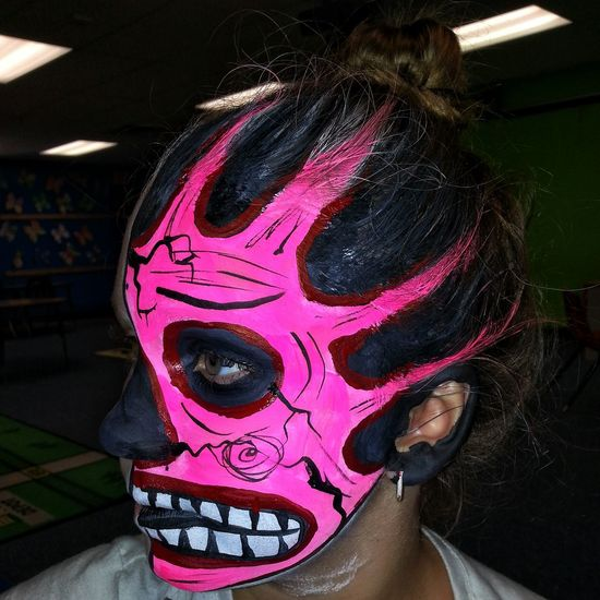 Face Paint Halloween Horrors Face Painting Tucson Arizona  Tucson Arizona Photography Run Weird