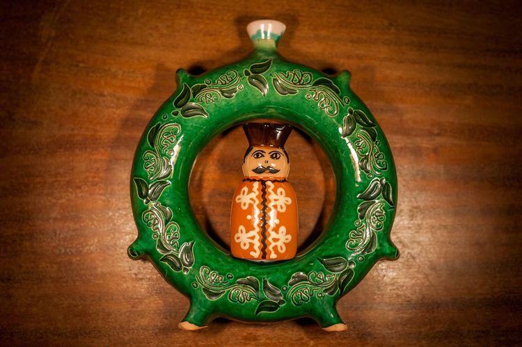Hussar Cavalryman Porcelain, Mosaic, Pieces, Broken, Design, Art, Decoration, Style, Vintage, Traditional, Creativity, Ceramic, Cracked, Hungary Man Magyar Huszár Kulacs Regi Old