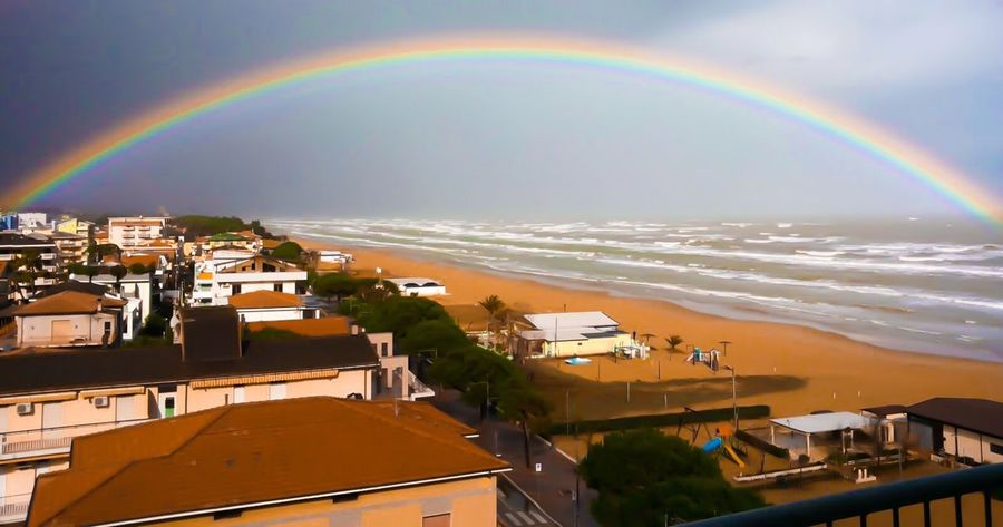 Perfect rainbow Rainbow Sky Sky_collection Sea And Sky Sea Sunset Landscape Landscape_Collection Landscape_photography Colors Silhouette