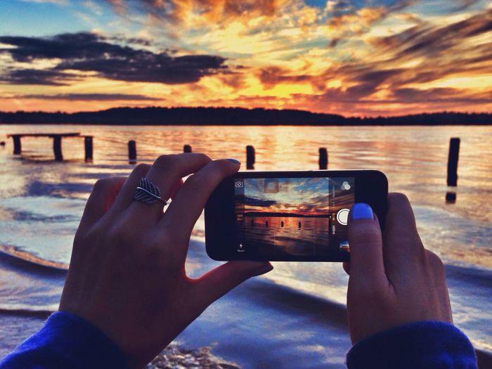 Landscape Sunset River Sunset #sun #clouds #skylovers #sky #nature #beautifulinnature #naturalbeauty #photography #landscape