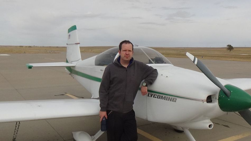 Me and My Dad's Plane Airplane Transportation One Person Front View Air Vehicle Portrait Colorado Photography Coloradophotographer