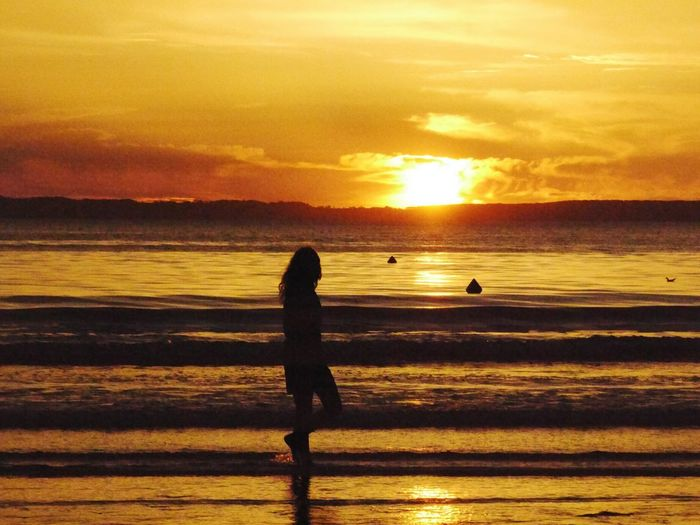 Sunset Sea Beauty In Nature Nature Bretagne France Sky Yellow