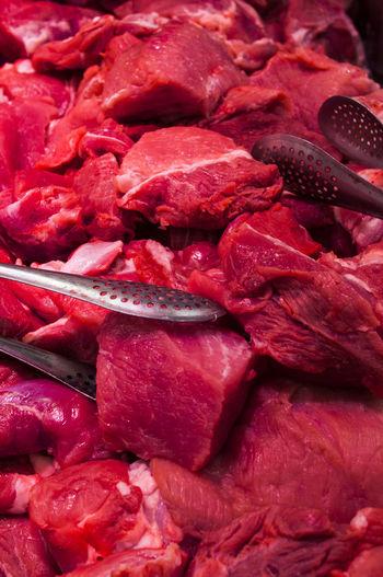 Full frame shot of red meat