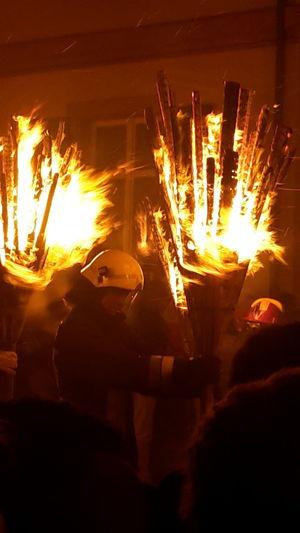 Fire Fasnacht Fasnacht 2017 Liestal Switzerland Night Heat - Temperature Long Exposure Flame Burning