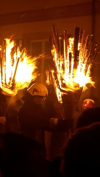Fire Fasnacht Fasnacht 2017 Liestal Switzerland Night Heat - Temperature Long Exposure Flame Burning