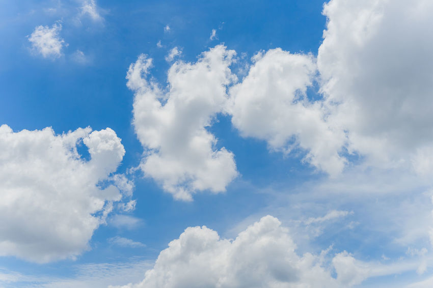 Nice blue Sky day time Backgrounds Beauty In Nature Blue Cloud - Sky Cloudscape Cumulus Cloud Day Environment Fluffy Flying Heaven Low Angle View Nature No People Outdoors Scenics Sky Sun Sunlight Tranquility Weather