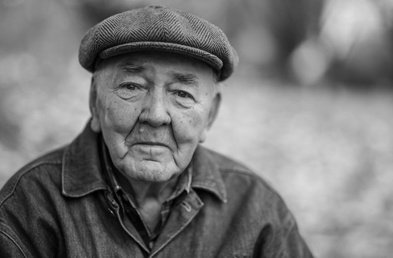 Portrait Headshot Human Face One Person Close-up Adult People Men Real People Outdoors Day Blackandwhite Photography Photography Warsaw Poland Bwphotography 1000twarzy 1000facesProject Headwear