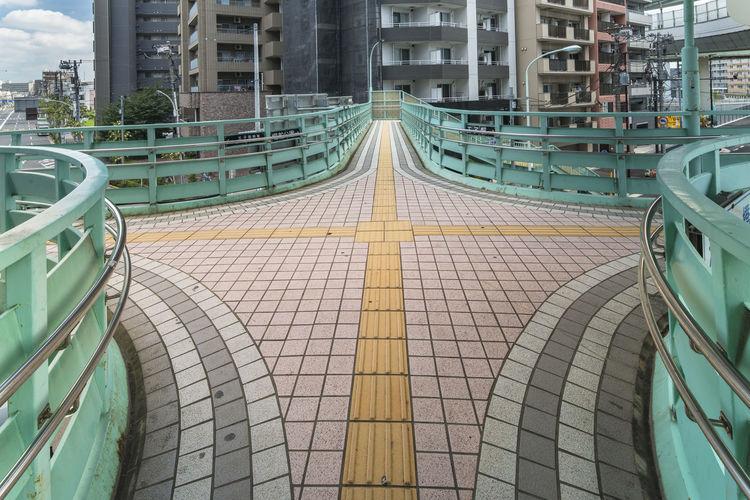 Panoramic view of bridge and buildings in city