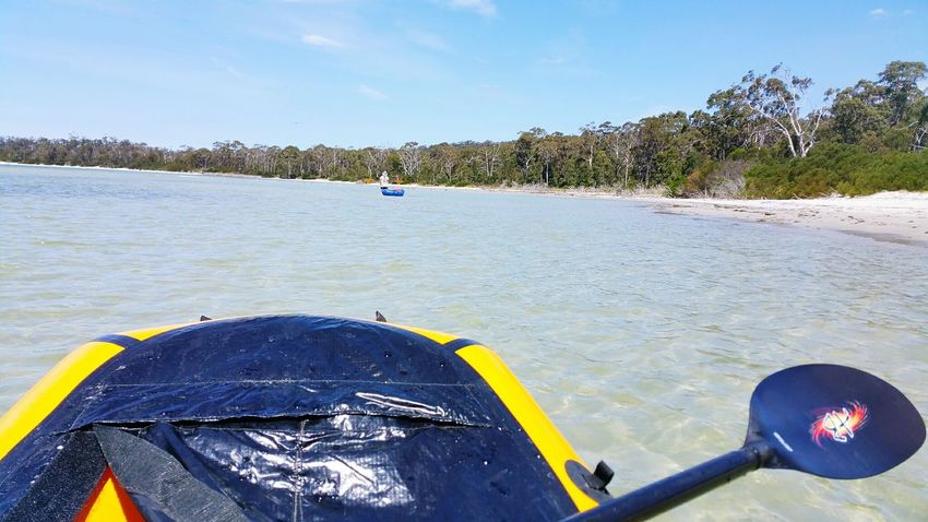 Packrafting out of Southport