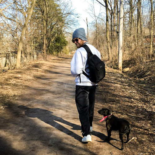lexi and i One Person Full Length Tree Only Men Outdoors One Man Only Shadow Leisure Activity Day Adults Only People Men Adult Real People Nature Dog Dog Love Man And Dog Walking Around Walking Walk Trail