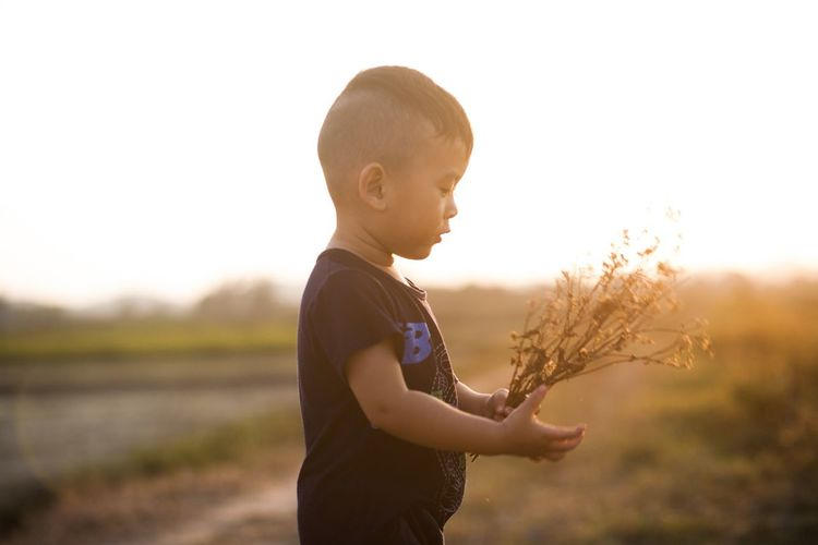 Myson Mybaby❤ MyBoy Childhood Real People Baby Sunset Nature Lifestyles Outdoors Vietnam