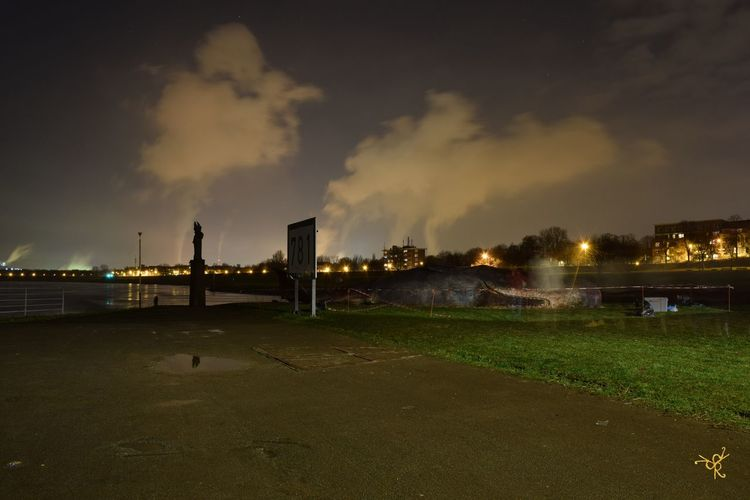 Beauty In Nature Built Structure Cloud - Sky Dark Duisburg Akzente Duisburg Hafen Duisburger Innenhafen. Grass Hafen Illuminated Landscape Nature Night Night Photography Nightphotography No People Outdoors Ruhrort Scenics Sky Waal Weather