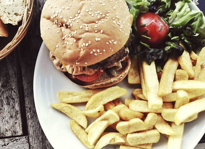 Food Lunch Potato Dinner Hamburger🍔🍟 Fast Food Delicious Healthy Food French Fries Hamburger
