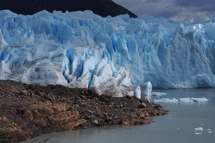 Scenic view of glaciers
