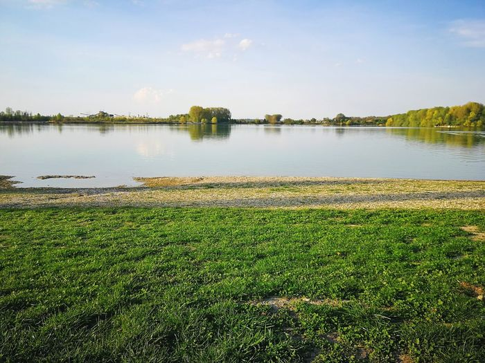 Freising Lake Bavaria Sunshine Nature Spring Summer Hot Weather Germany Pulling Water Lake Clear Sky Rural Scene Sky Grass Landscape Going Remote