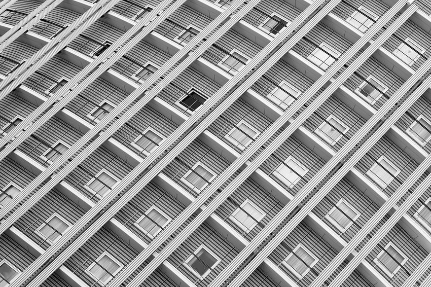 Façade Apartment Architecture Backgrounds Building Building Exterior Built Structure Full Frame Modern Pattern Repetition Window The Architect - 2018 EyeEm Awards