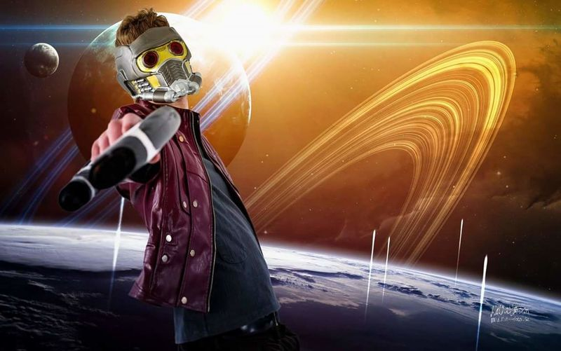 Star Lord from Guardian of the galaxy Cosplay. Cosplay GUARDIANSOFTHEGALAXY Star Lord Cool Attitude Shooting Aiming Gun Close-up Space Space And Astronomy Target Shooting Shooting A Weapon Star - Space