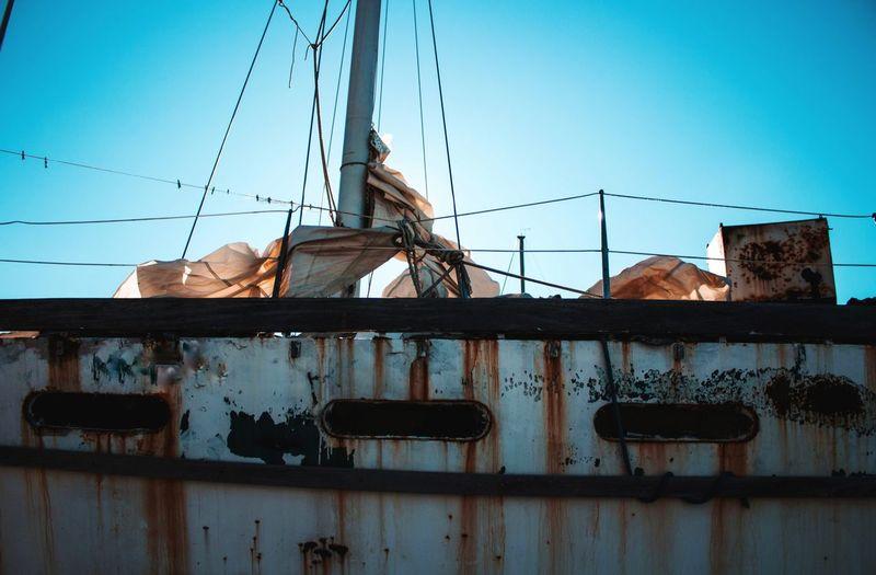 rusty old sail