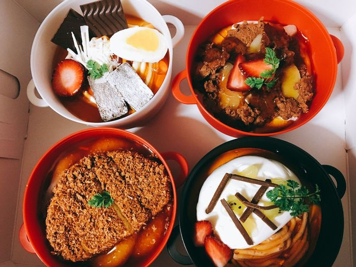 Donburi Cafe Sweet Food Colors Fruit Dessert Fukuchiyama Kyoto Pudding Food Indoors  Bowl Ready-to-eat Egg