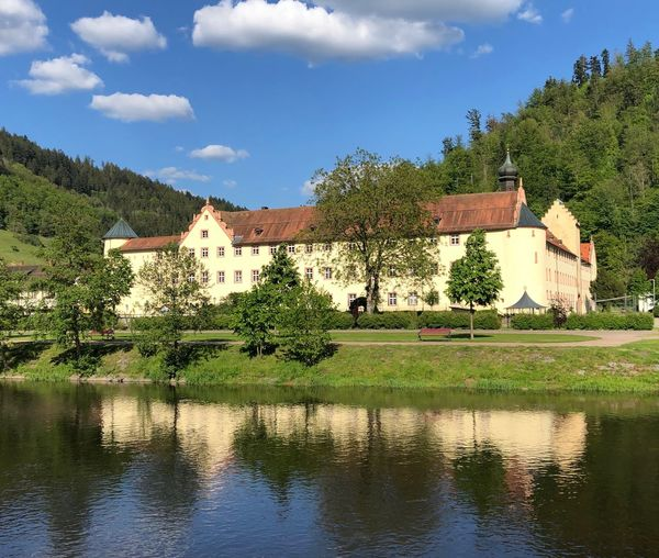 Schloss in Wolfach Tree Water Plant Built Structure Architecture Building Exterior Sky Reflection Outdoors No People Waterfront Building Day