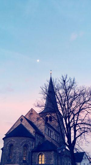 Sunrise Sunrisre Moon Church Architecture Built Structure Building Exterior Sky Building Place Of Worship Religion