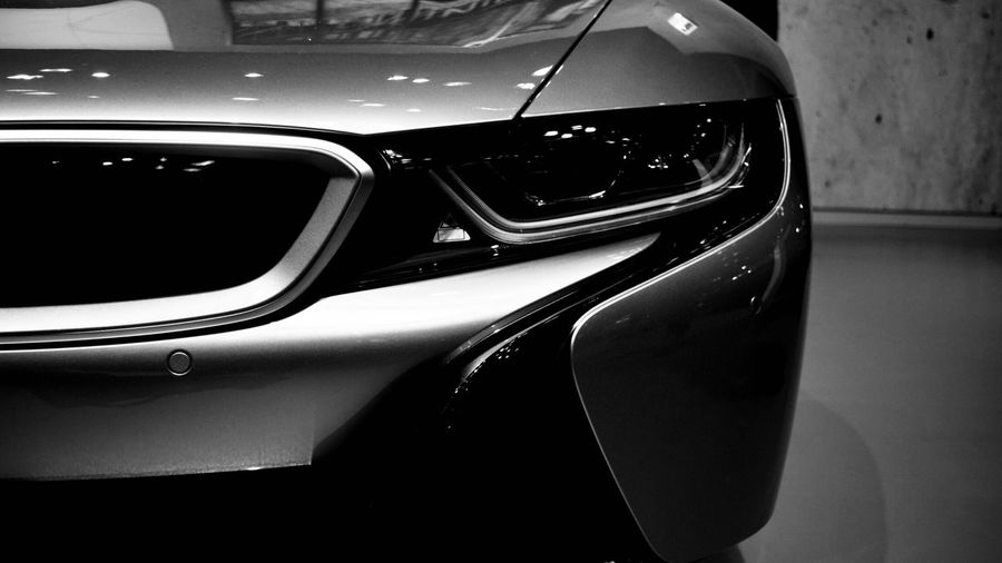 -i8- negative space Light And Shadow Black And White I8 Bmw Minimalism Lines Mode Of Transportation Transportation Close-up Indoors  Car Motor Vehicle