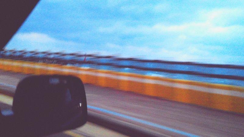 Blue Ocean Highway Jejuisland Blue Ocean Photo Piture Shoreline Car