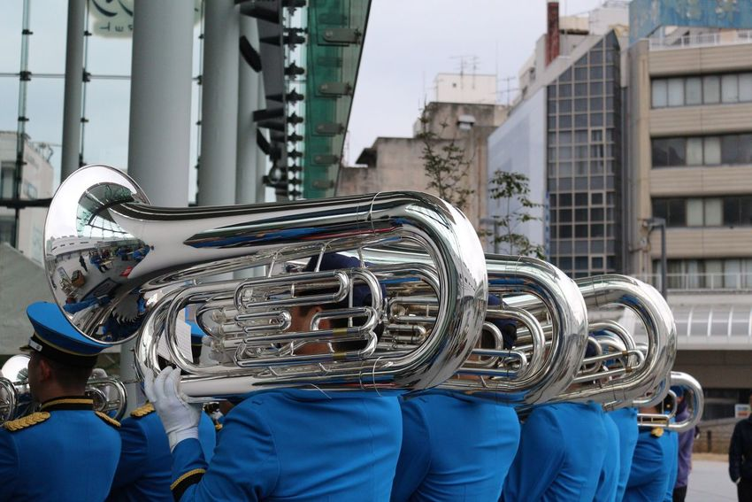 Musical Instrument Day Outdoors Real People Close-up Brass City Brass Band