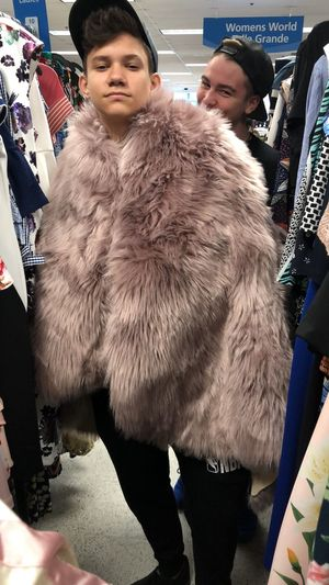 Clothing Todays Outfit! Today Hot Look  Todays Hot Look Today's Hot Look Stylish Happy Time Two People Men Real People Clothing People Fur Winter Fashion Warm Clothing Lifestyles Retail  Store
