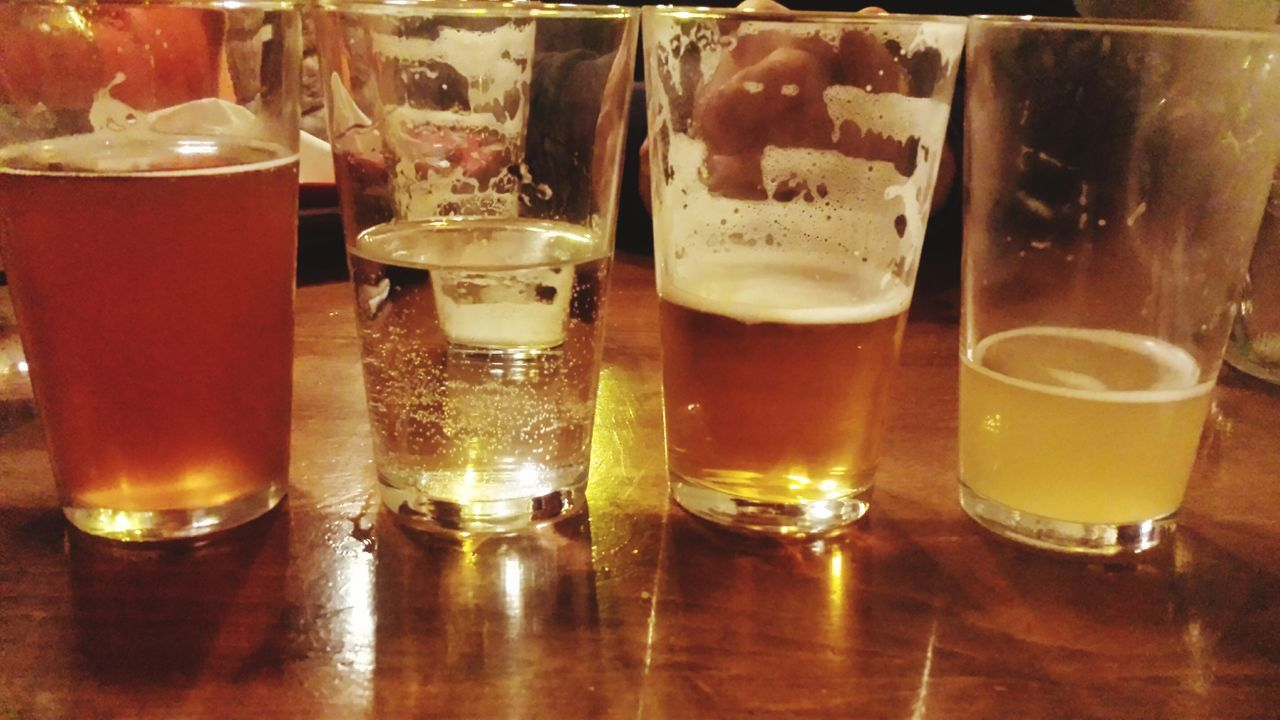 food and drink, refreshment, drink, drinking glass, alcohol, indoors, table, beer, no people, shot glass, freshness, close-up, frothy drink, day