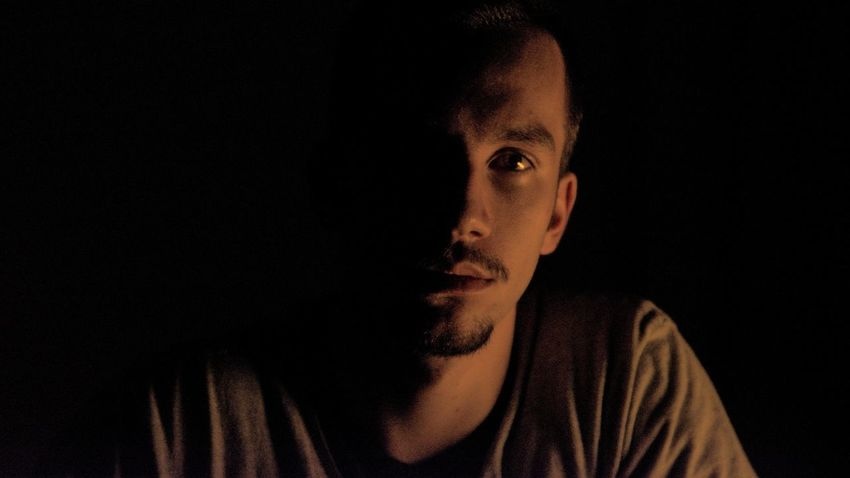 Selfie ✌ Man Young Adult Light And Shadow Black Background Portrait Space Headshot Human Face Looking At Camera Studio Shot Astronomy Mid Adult Men Chiaroscuro  Forgiveness The Portraitist - 2018 EyeEm Awards