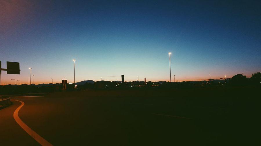 """""""Sono solo momenti di passaggio, ma quanta vita hanno dentro!"""" First Eyeem Photo ArrivatoMai Sunset Twilight Road"""