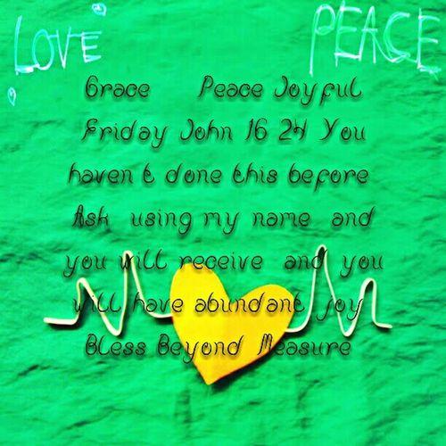 Grace & Peace Joyful Friday