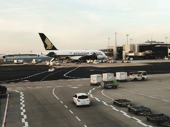 Lufthansa Airbus A380 Germany Transportation Mode Of Transportation Air Vehicle Airplane Airport Sky Land Vehicle