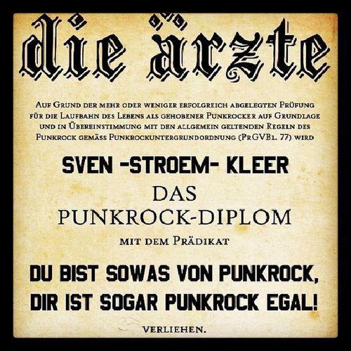 Die ärzte Dieaerzte Aerzte Diplom punk punkrock ich fands witzig