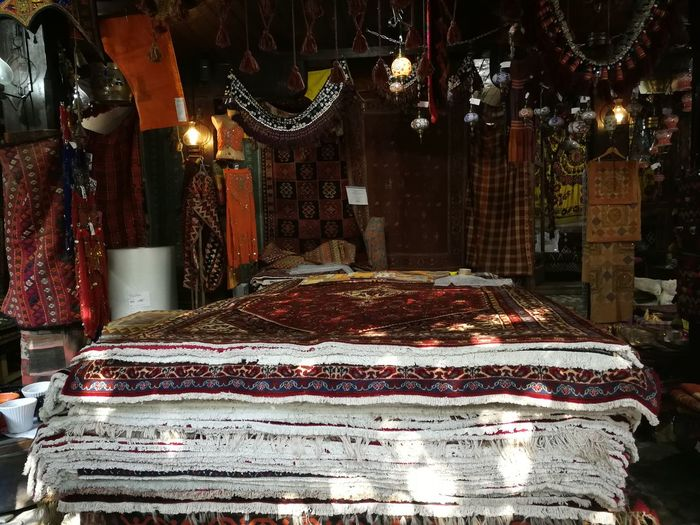 EyeEmNewHere Persian Carpet & Rug Suveniers Sarajevo Illuminated Market For Sale