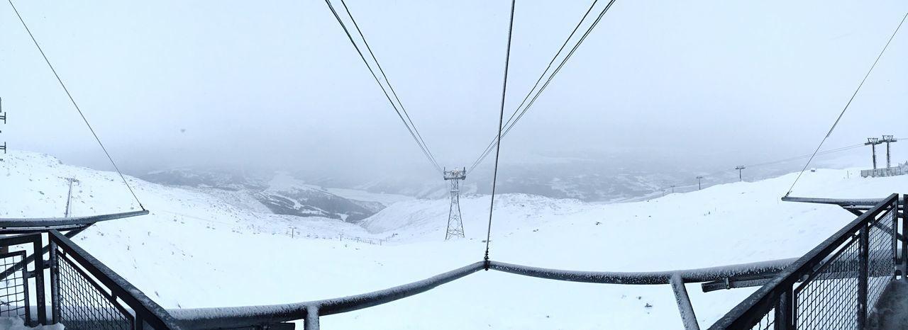 Amazing Fantastic View Snow Mountains Enjoying Life